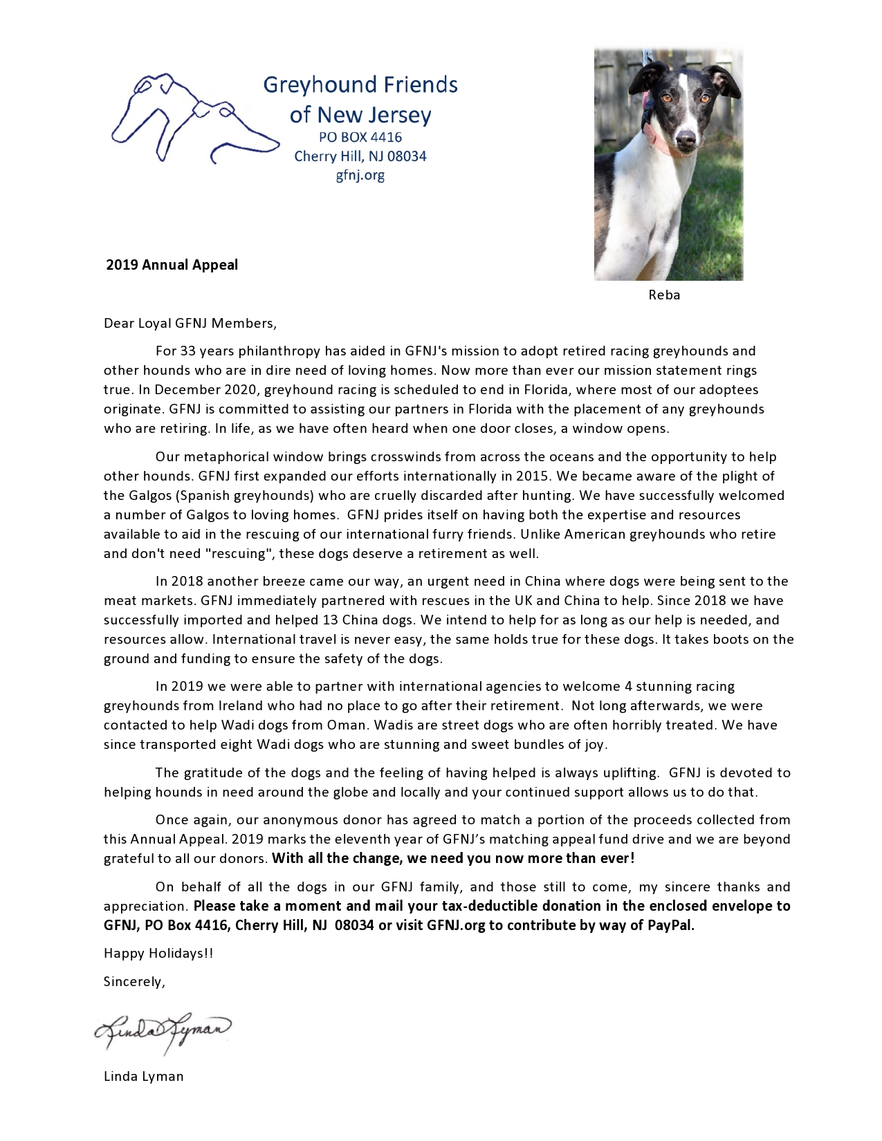 2019 Annual Appeal Letter
