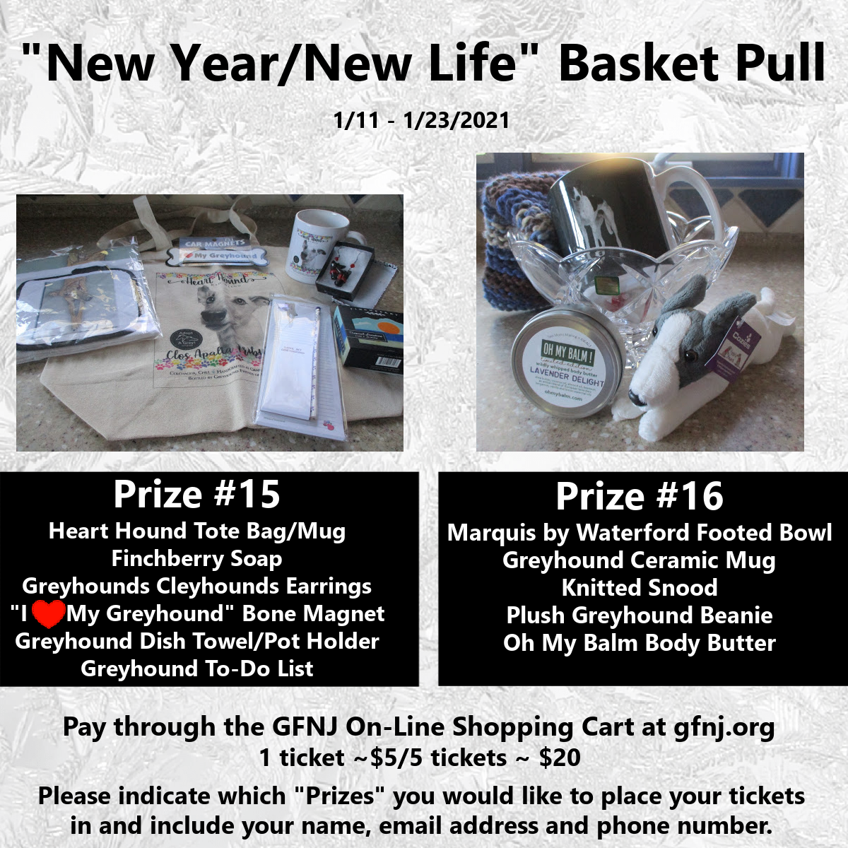 New Year/New Life Baskets 15/16