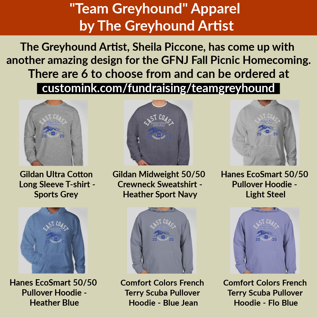 2020 Fall Picnic Team Greyhound shirt