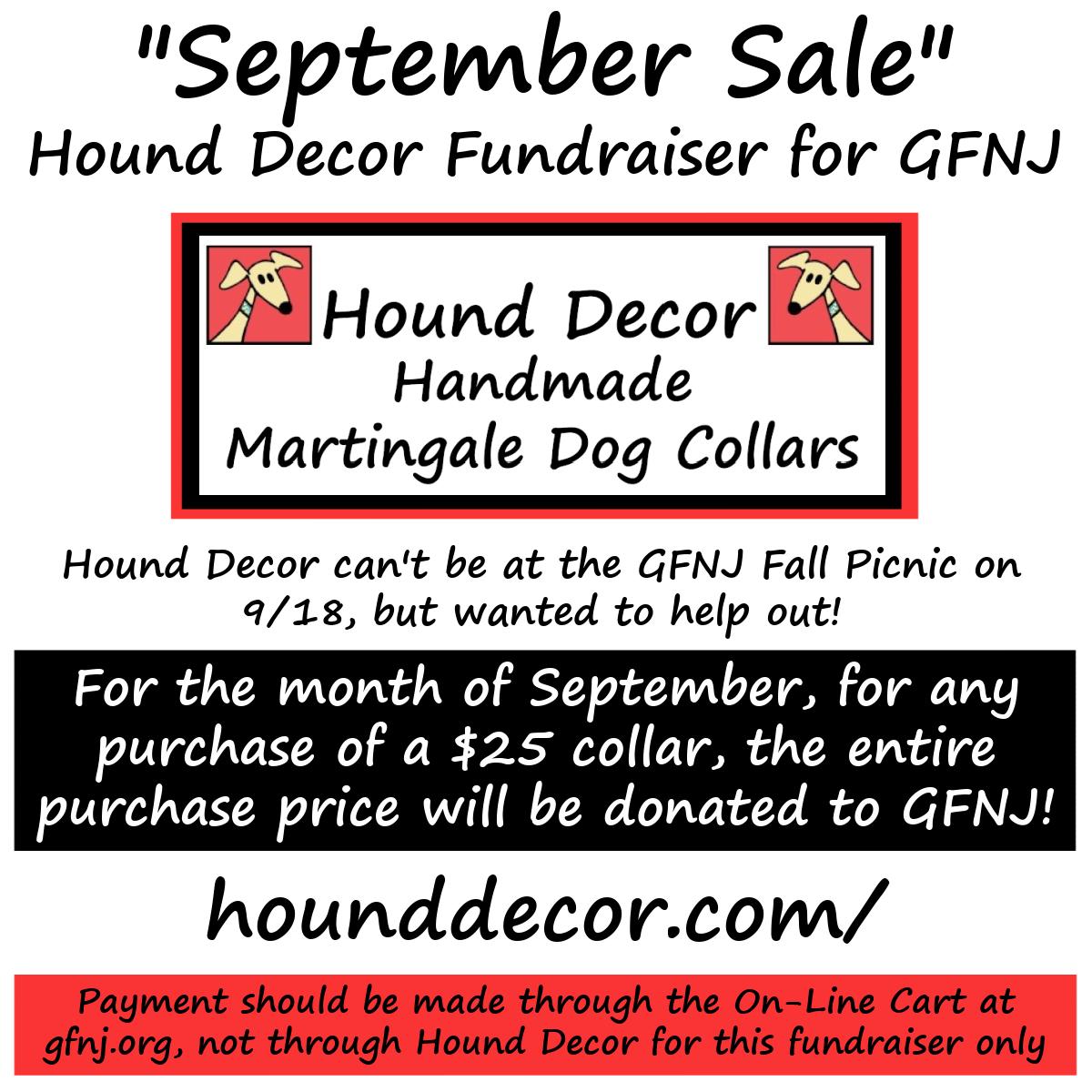 Hound Decor Sept Sale