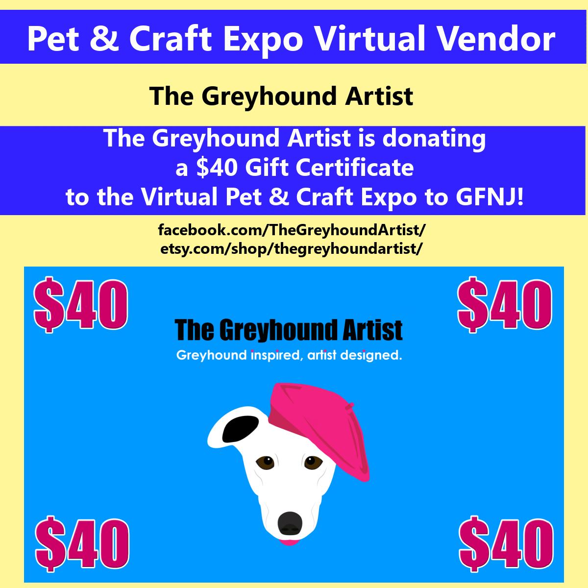 2020 Craft Show Greyhound Artist