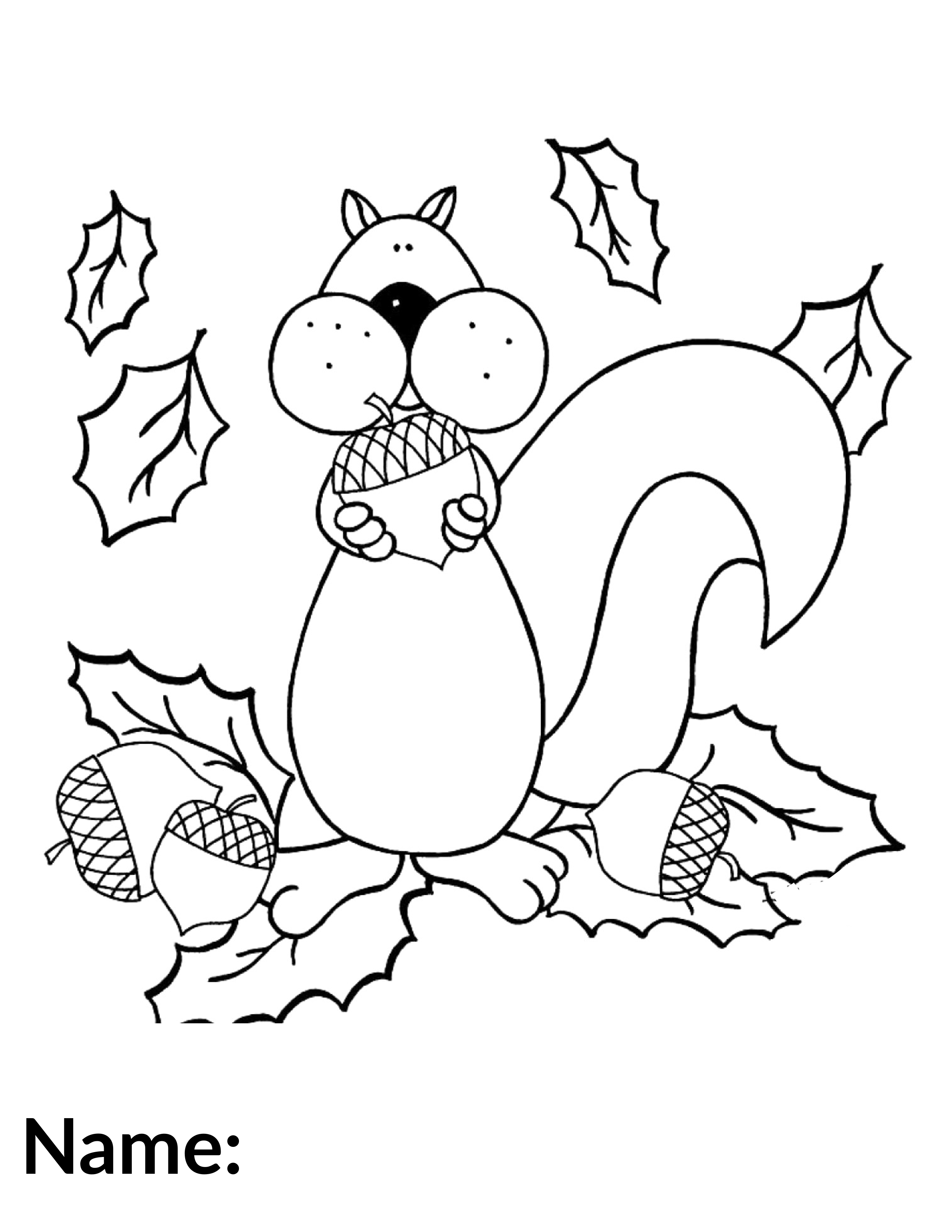 2020 Squirrel - Coloring Contest
