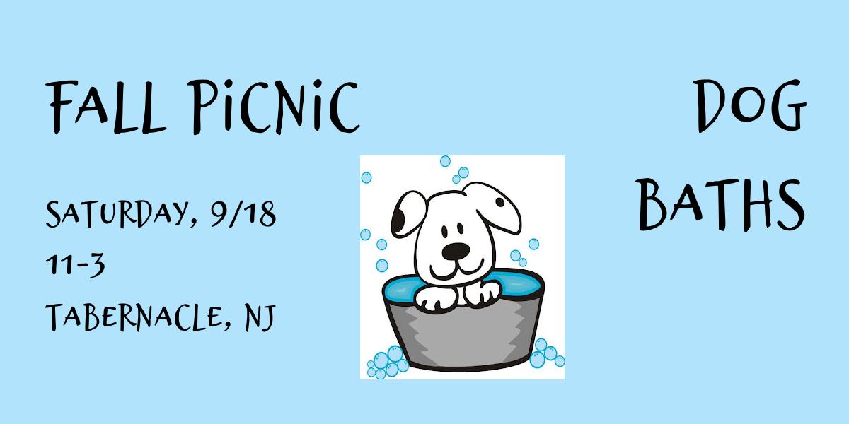 2021 Fall Picnic Dog Bathing