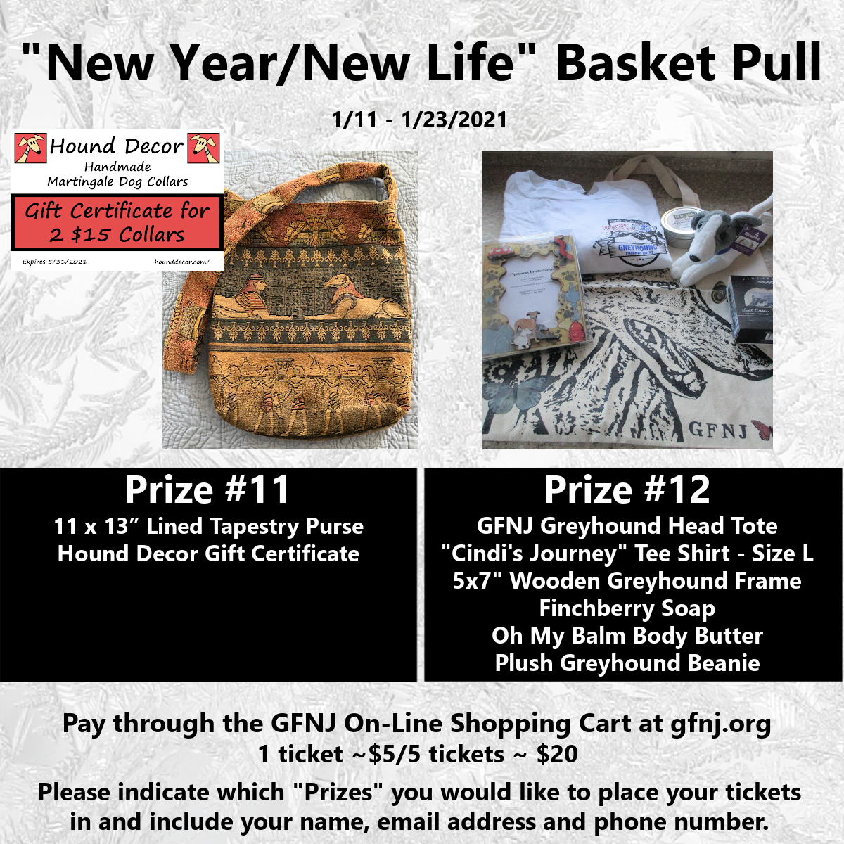 New Year/New Life Baskets 11/12
