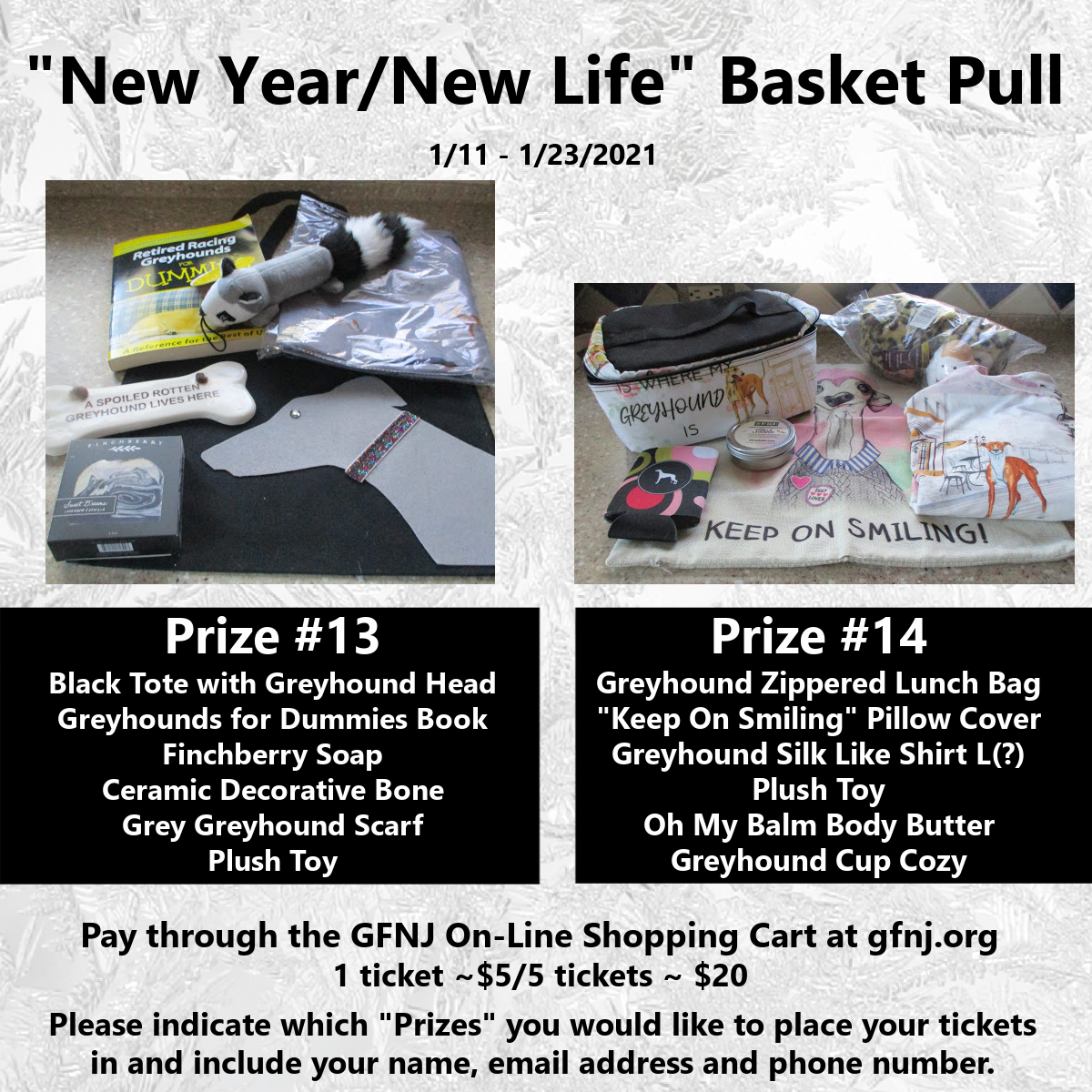 New Year/New Life Baskets 13/14