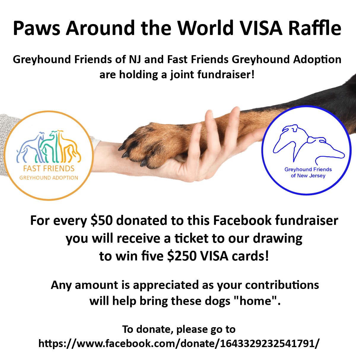 Paws Around the World VISA Raffle 1