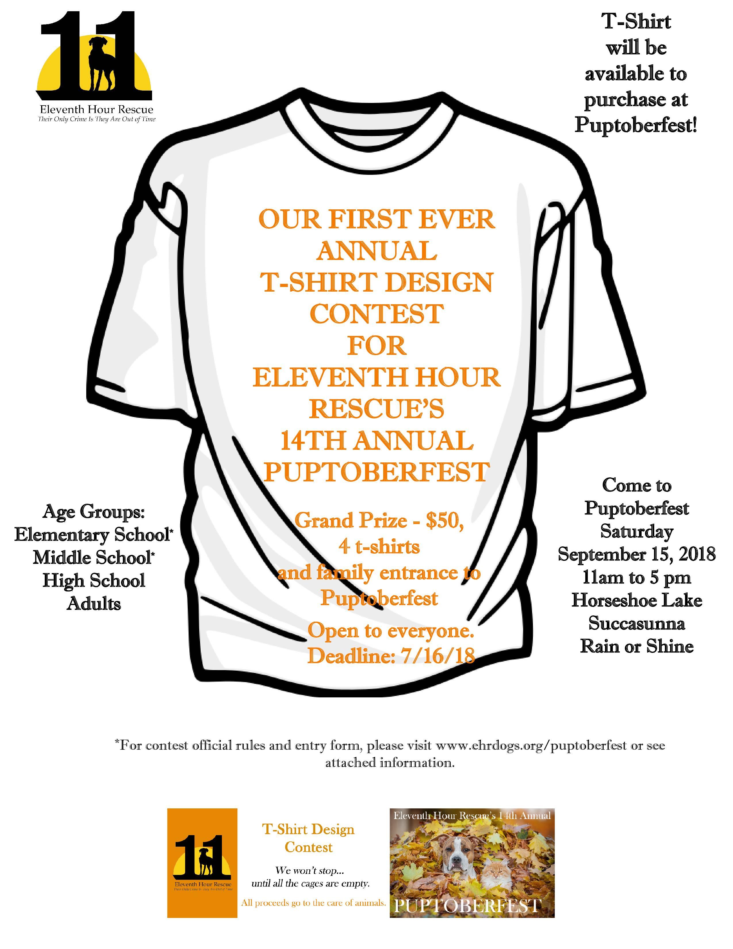 Puptoberfest Tshirt Contest