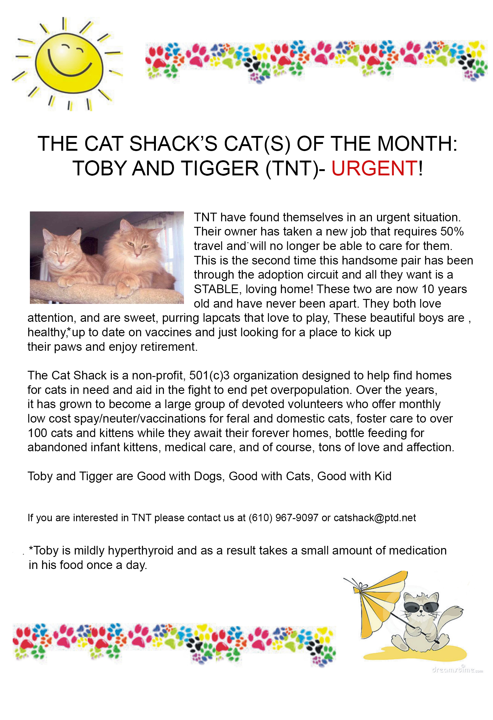 Pet of the month July
