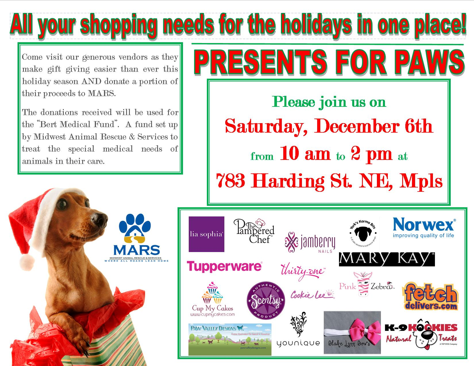 Presents for Pups Flyer