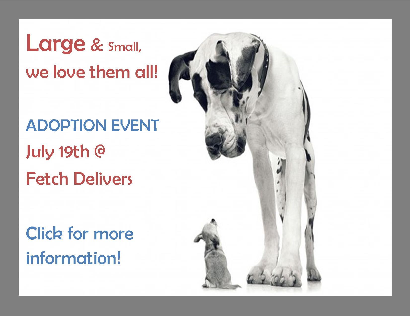 Adoption Event - Large and Small