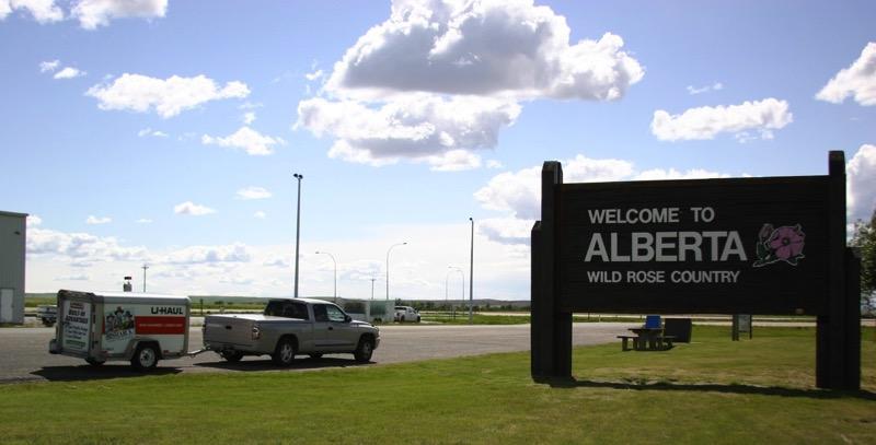 Entering Alberta
