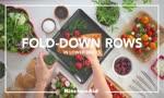 KitchenAid Dishwasher Features - Fold Down Rows Lower Racks