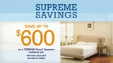TEMPUR-Pedic Supreme Savings!