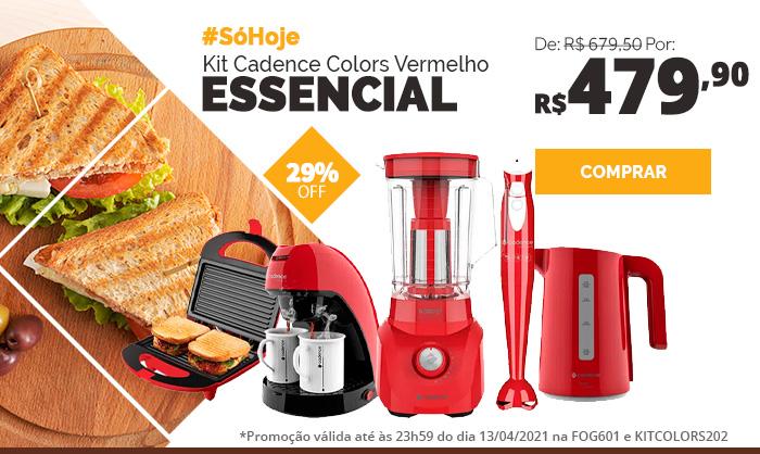 Kit Cadence Colors Vermelho Essencial