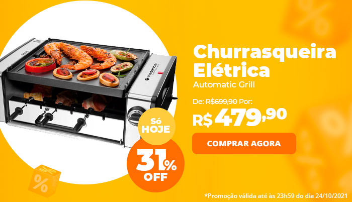 Churrasqueira Elétrica Cadence Automatic Grill