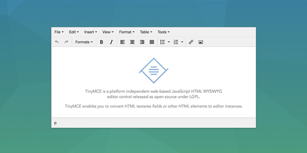 The TinyMCE text editor is amazing -- it's really your only choice for most applications