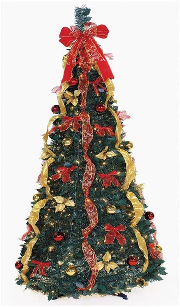 Pre Decorated Pull Up Christmas Tree Decore