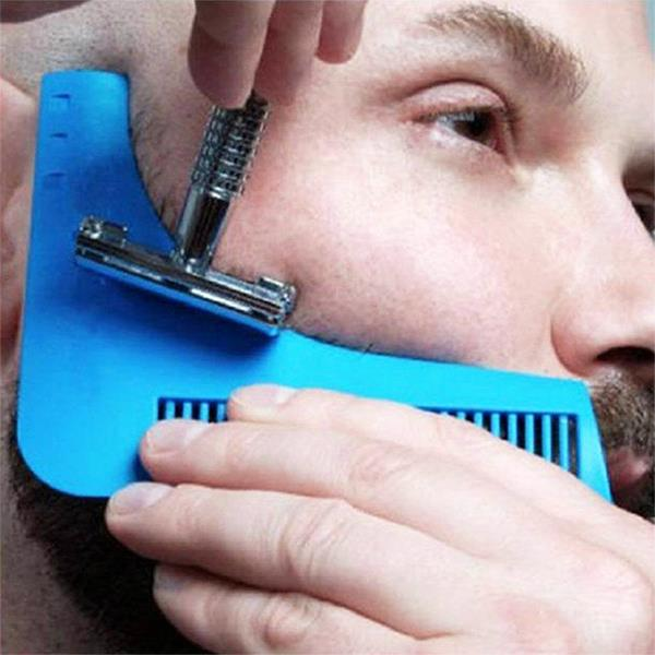 Brilliant Beard Shaper Tool Facial Hair Shaping Template Styling Comb Brush Short Hairstyles For Black Women Fulllsitofus