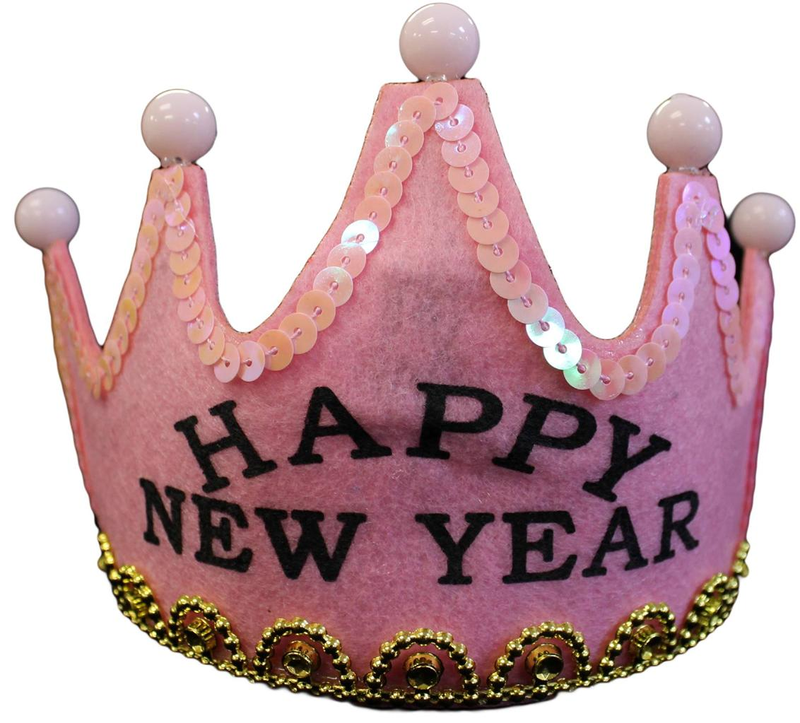 NEW YEARS EVE PARTY FAVOR - FLASHING HAPPY NEW YEAR TIARA ...