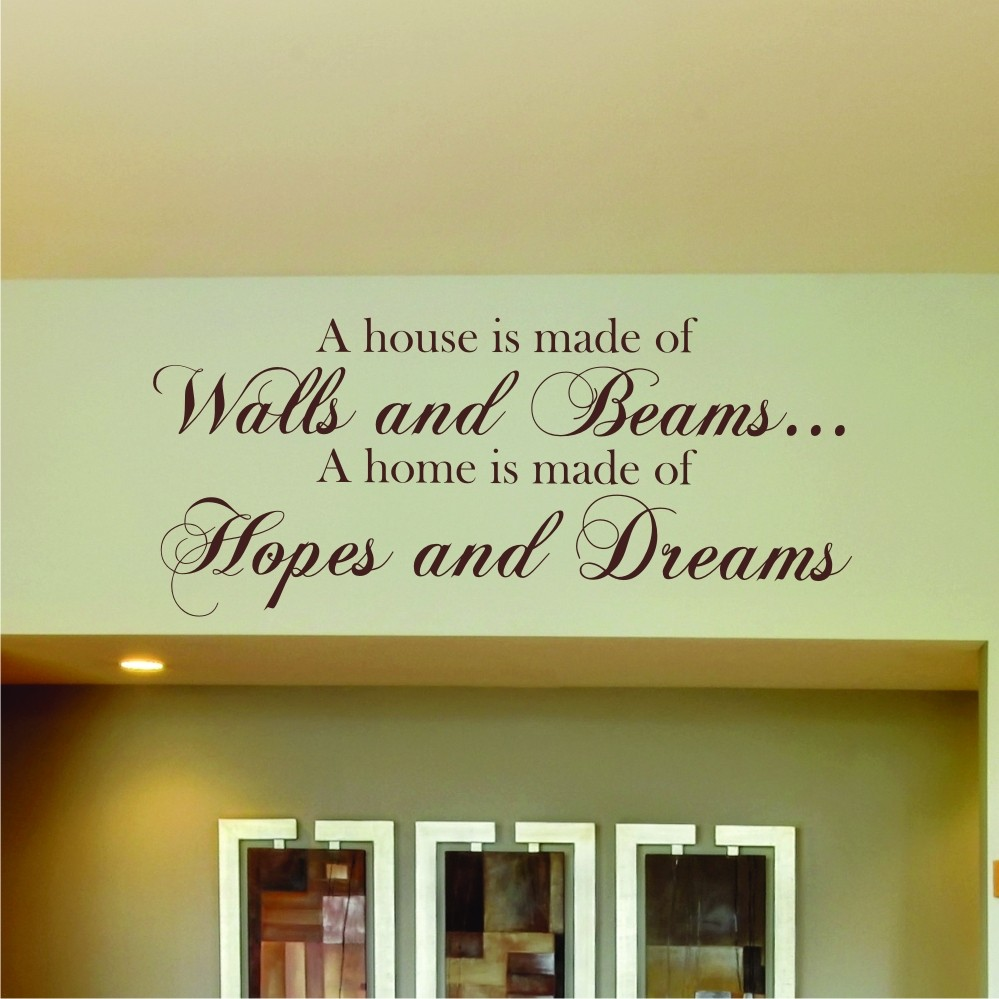 Modern Wall Word Art Quotes Composition - Wall Art Collections ...