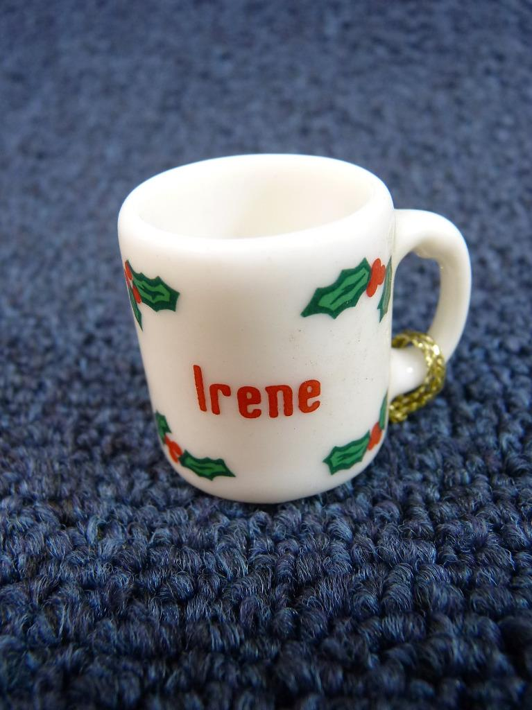 Cute GANZ Personalized Name Christmas Mug Coffee Cup Holly ...