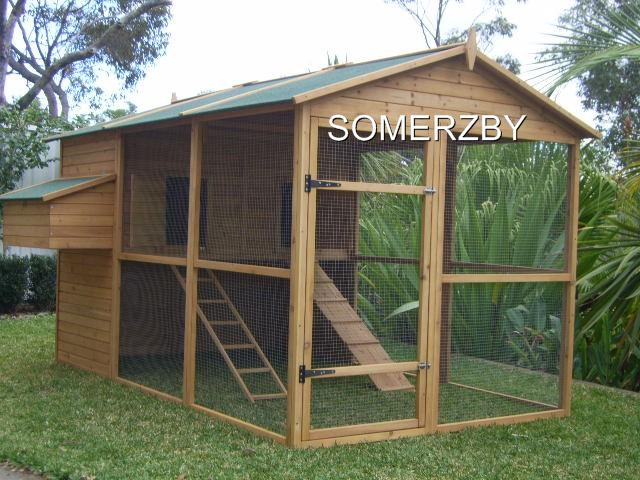 Chicken Coop CAT Enclosure Rabbit Hutch Cage RUN Extra