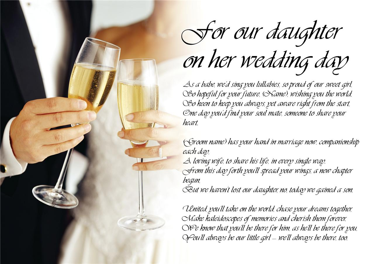 Beautiful Poems From Mother To Daughter On Her Wedding Day Ideas ...