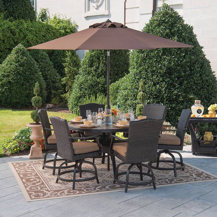 Members Mark Patio Furniture Outdoor Furniture Patio Dining Set Wicker Rattan 7pc ...