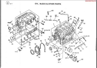 isuzu 3kc1 engine parts diagram