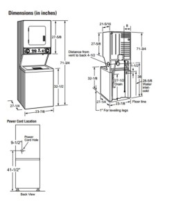 Apartment Size Stackable Washer And Dryer Dimensions - Latest ...