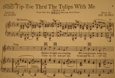 TIPTOE SHEET TULIPS THROUGH PDF MUSIC THE
