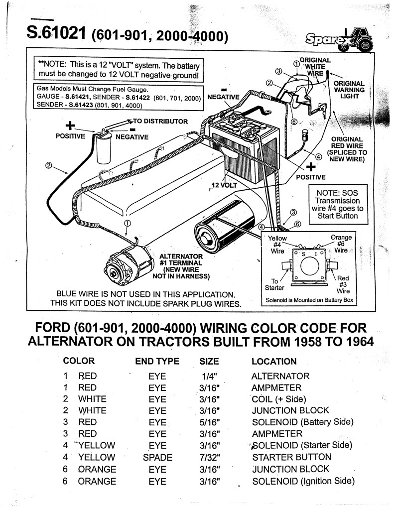5 3 Wiring Harness To 4 Wire : Ford wiring diagram v tractor electrical