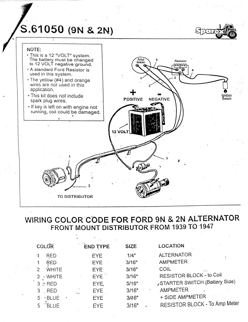1954 Ford Car Wiring Diagram Naa Tractor Real 12 Volt Detailed Schematics Rh Jvpacks Com Parts
