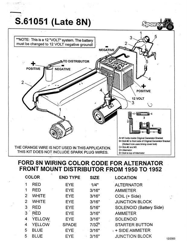 ford 8n tractor wiring diagram 6 volts 8n 6 volt positive