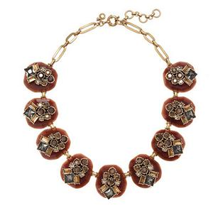 CREW DAZZLING PEBBLE BROWN STATEMENT NECKLACE AUTHENTIC NWT NEW $138 ...