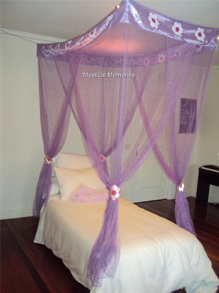 Single Bed Mosquito Net New Round Lace Curtain Dome Bed Canopy Netting  Princess Mosquito Net