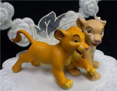 Adorable Lion King Disney Wedding Cake Topper Simba Nala Bride Groom Top