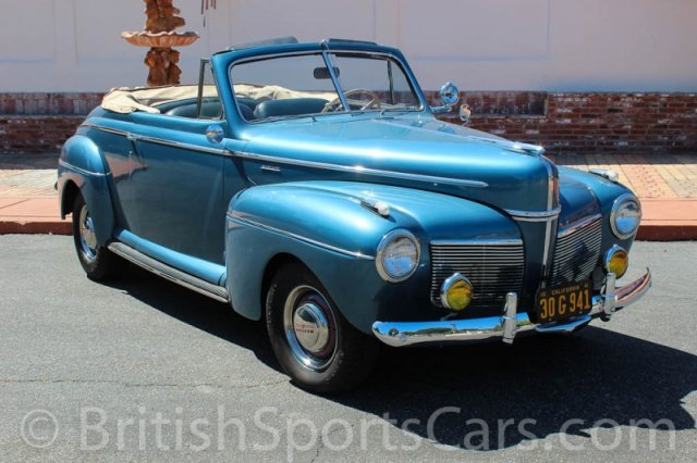British Sports Cars car search / 1941 Mercury Convertible
