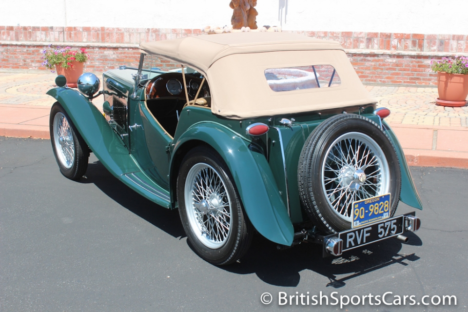 british sports cars 1948 mg tc for sale. Black Bedroom Furniture Sets. Home Design Ideas