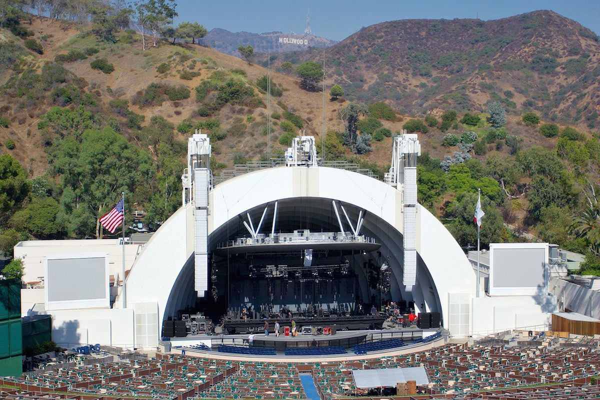 Empty outdoor concert stage - Hollywood Bowl