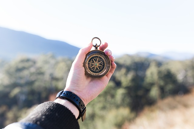 Teach students how to use a compass