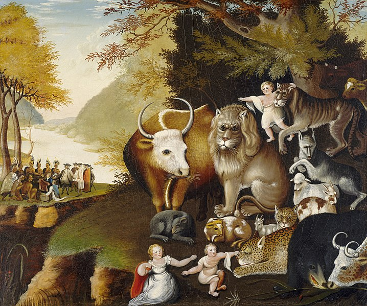 Visual literacy activities - the Peaceable Kingdom