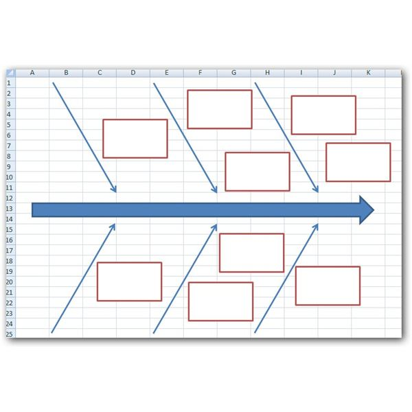 How To Create A Fishbone Diagram In Excel 2007 And Newer