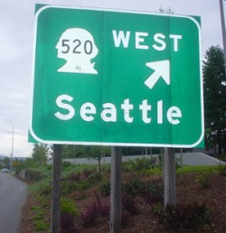 Seattle Highway Sign