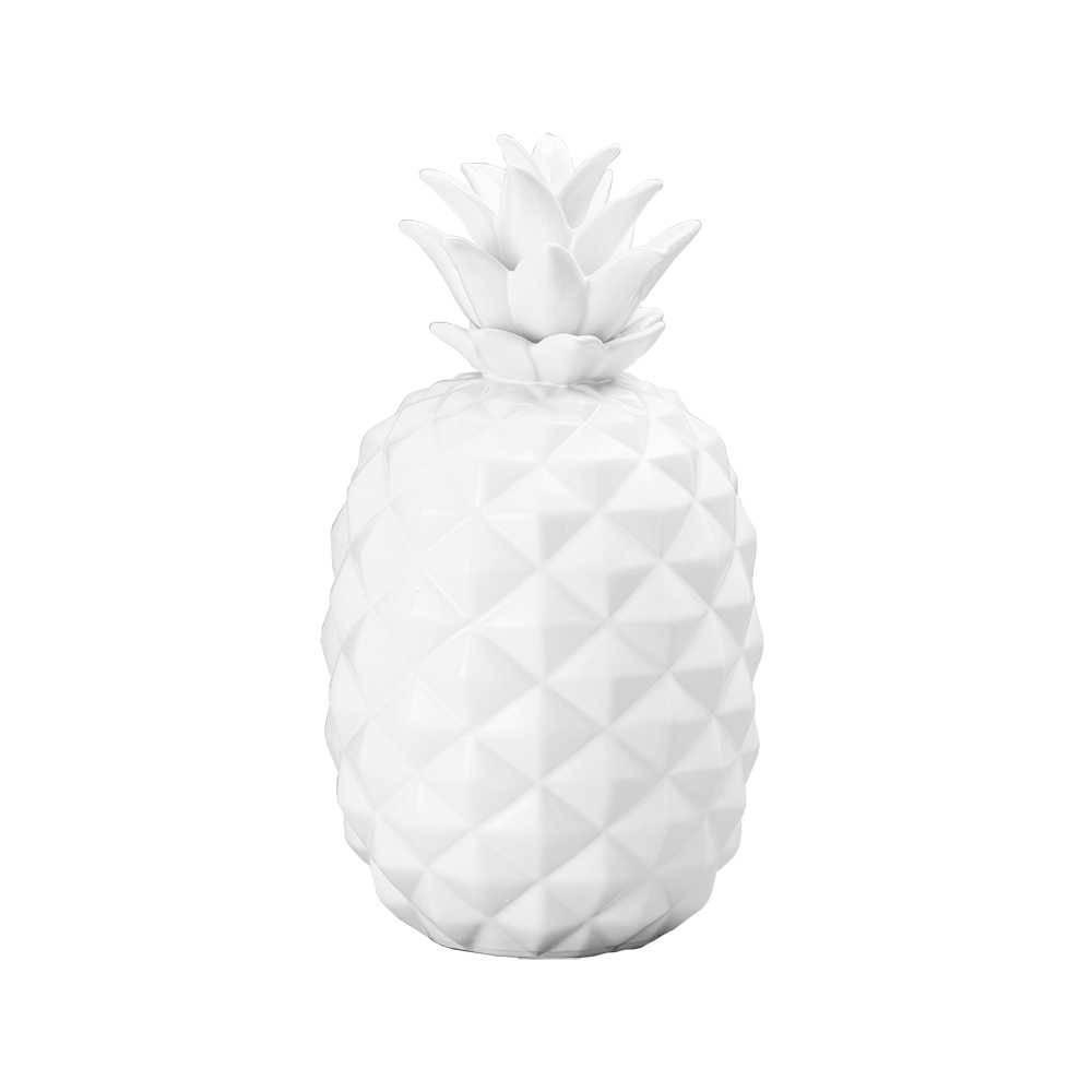Abacaxi Decorativo Branco em Cerâmica - Lyor Classic - 36,8x25 cm