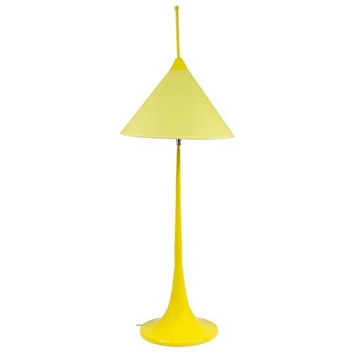 Abajur Amarelo Cúpula Móvel Alta Fullway - 100x35cm