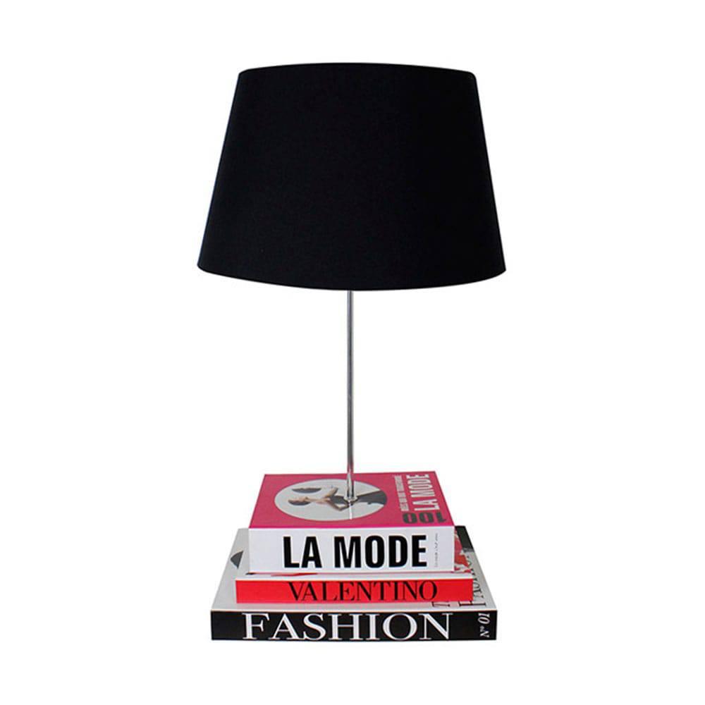 Abajur com Base de Books Fashion Fullway - 52x22 cm