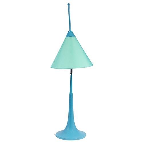 Abajur Cúpula Móvel Azul Claro Baixo Fullway - 77x25cm