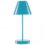 Abajur Lite Azul Bivolt em Metal - 35x15 cm