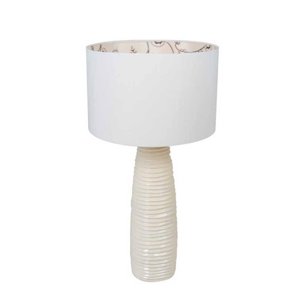 Abajur Lonely Moderno Branco em Resina - 85x40 cm